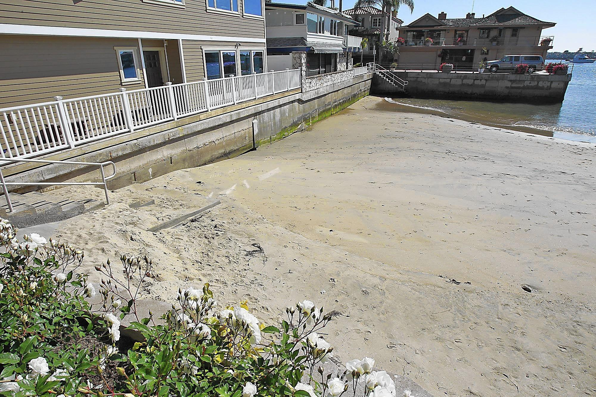 Sand has been eroding from China Cove at an alarming rate.