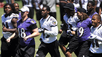What is the Ravens' conditioning test that Rolando McClain coul…