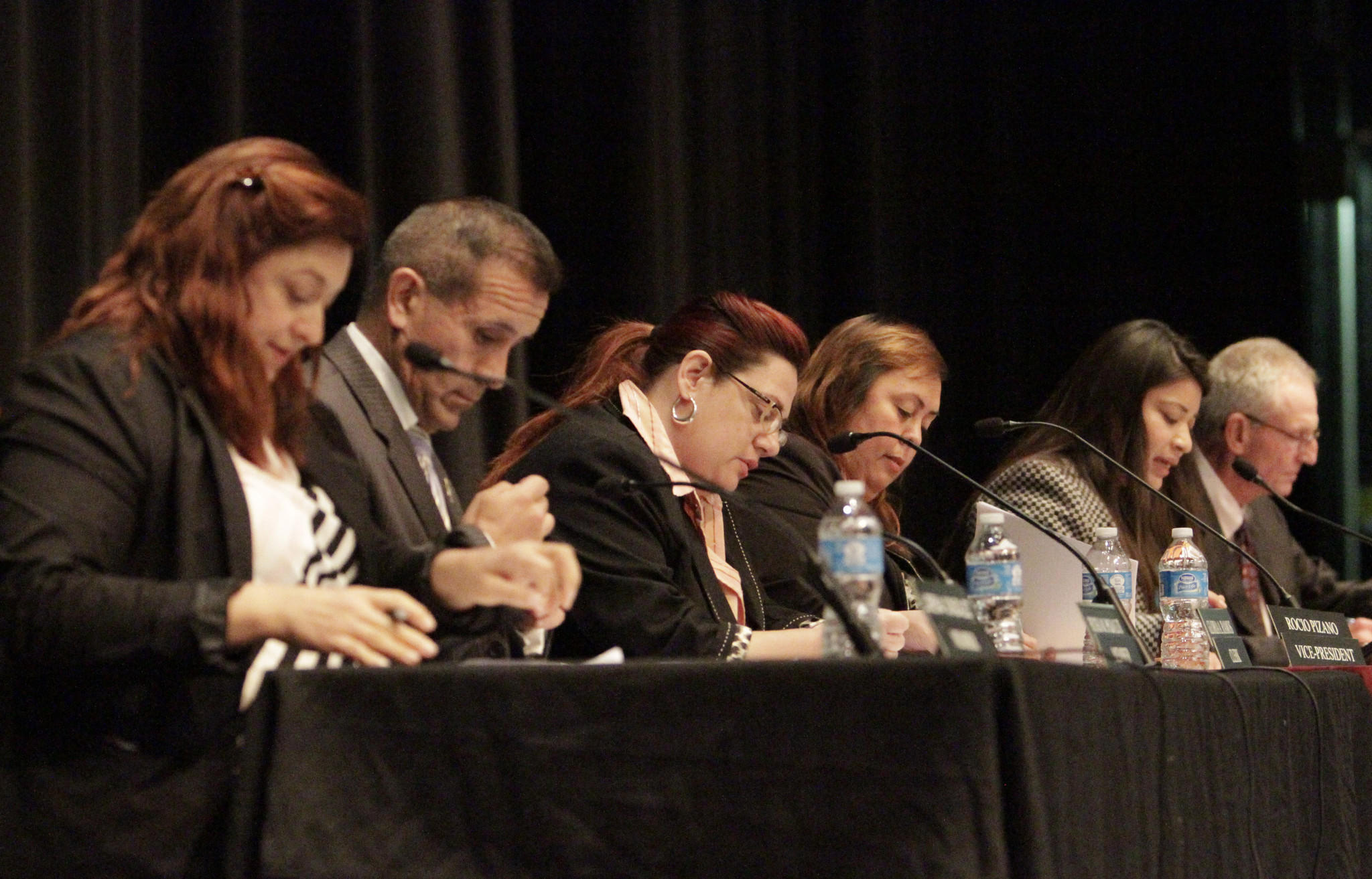 The embattled Centinela school board took steps Tuesday to restore community confidence that has eroded over disclosures about the superintendent's high salary. The school board president also announced the FBI was looking into the matter.
