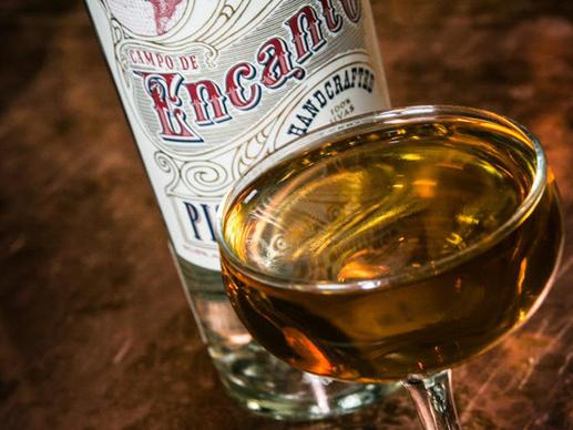 The Riffel Express cocktail (pisco, Cardamaro amaro) at