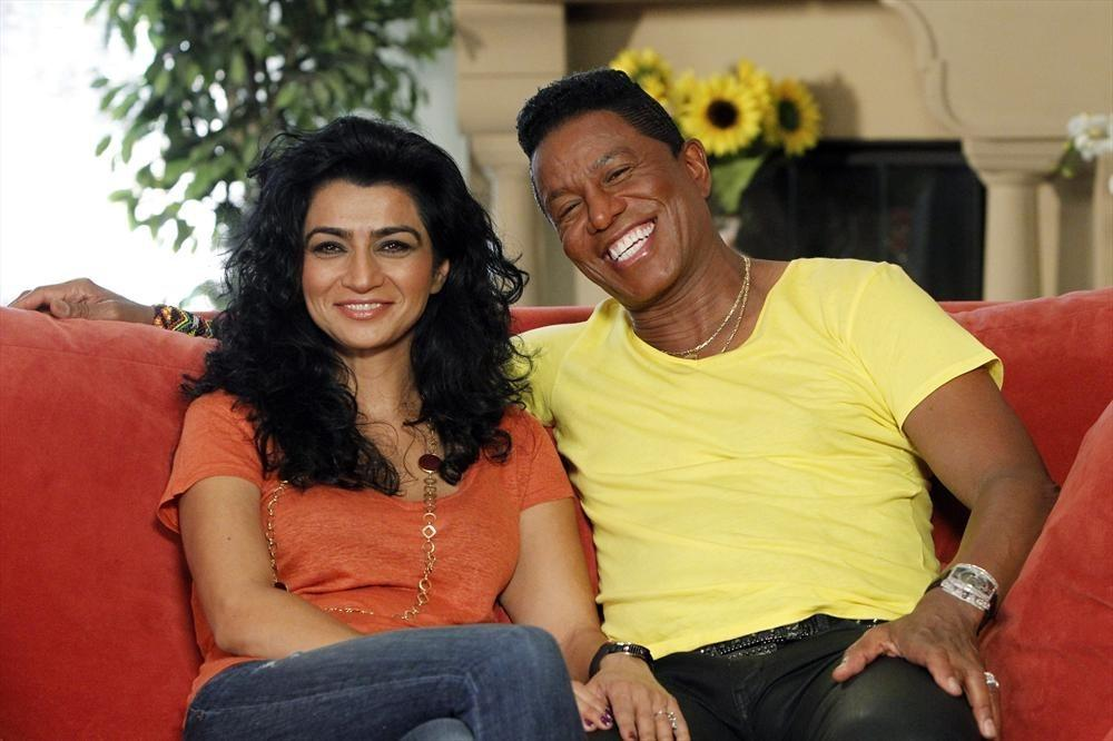 "Jermaine Jackson and Halima Rashid on the season premiere of ""Celebrity Wife Swap."""