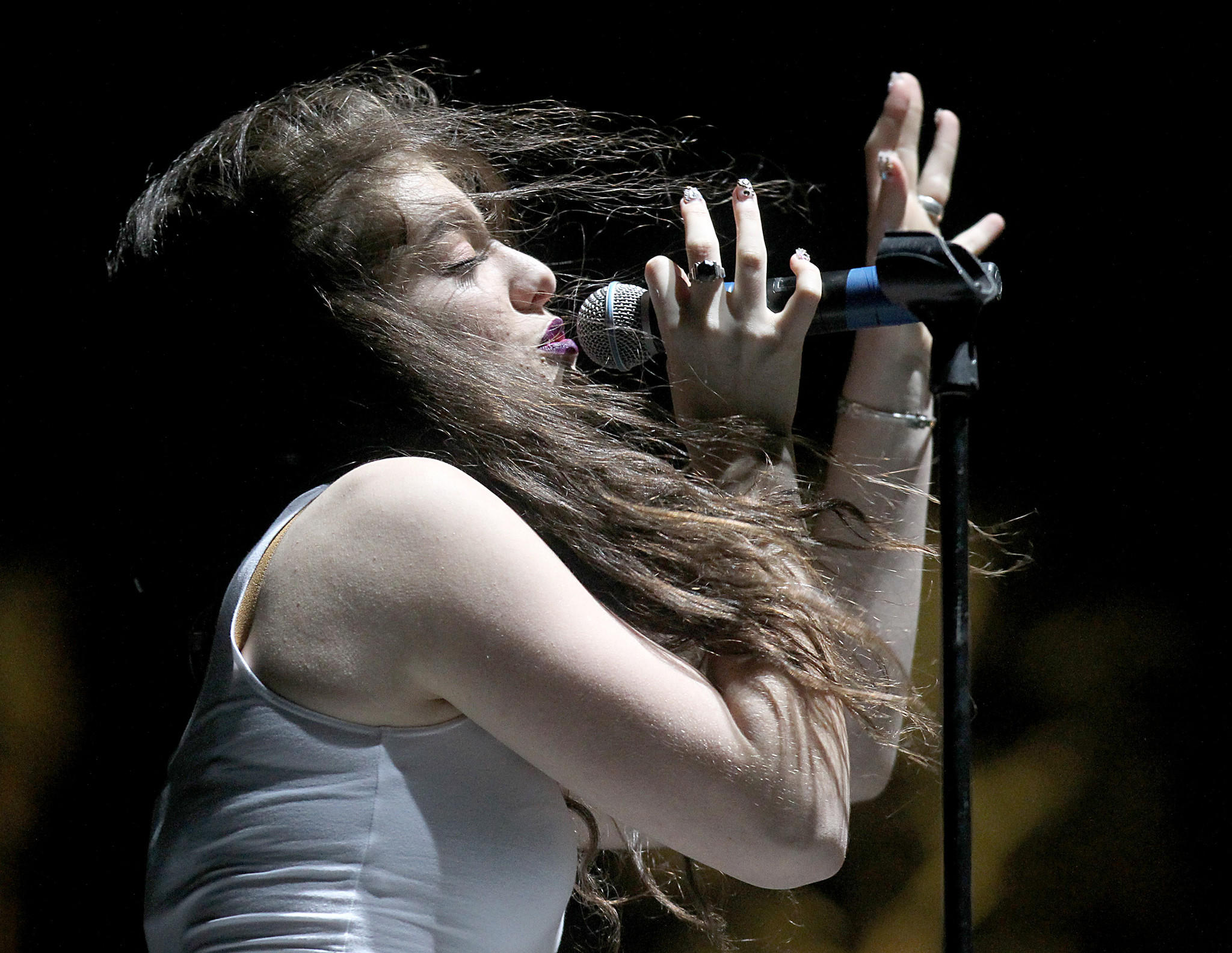 Lorde performs at the Coachella Valley Music and Arts Festival in Indio.
