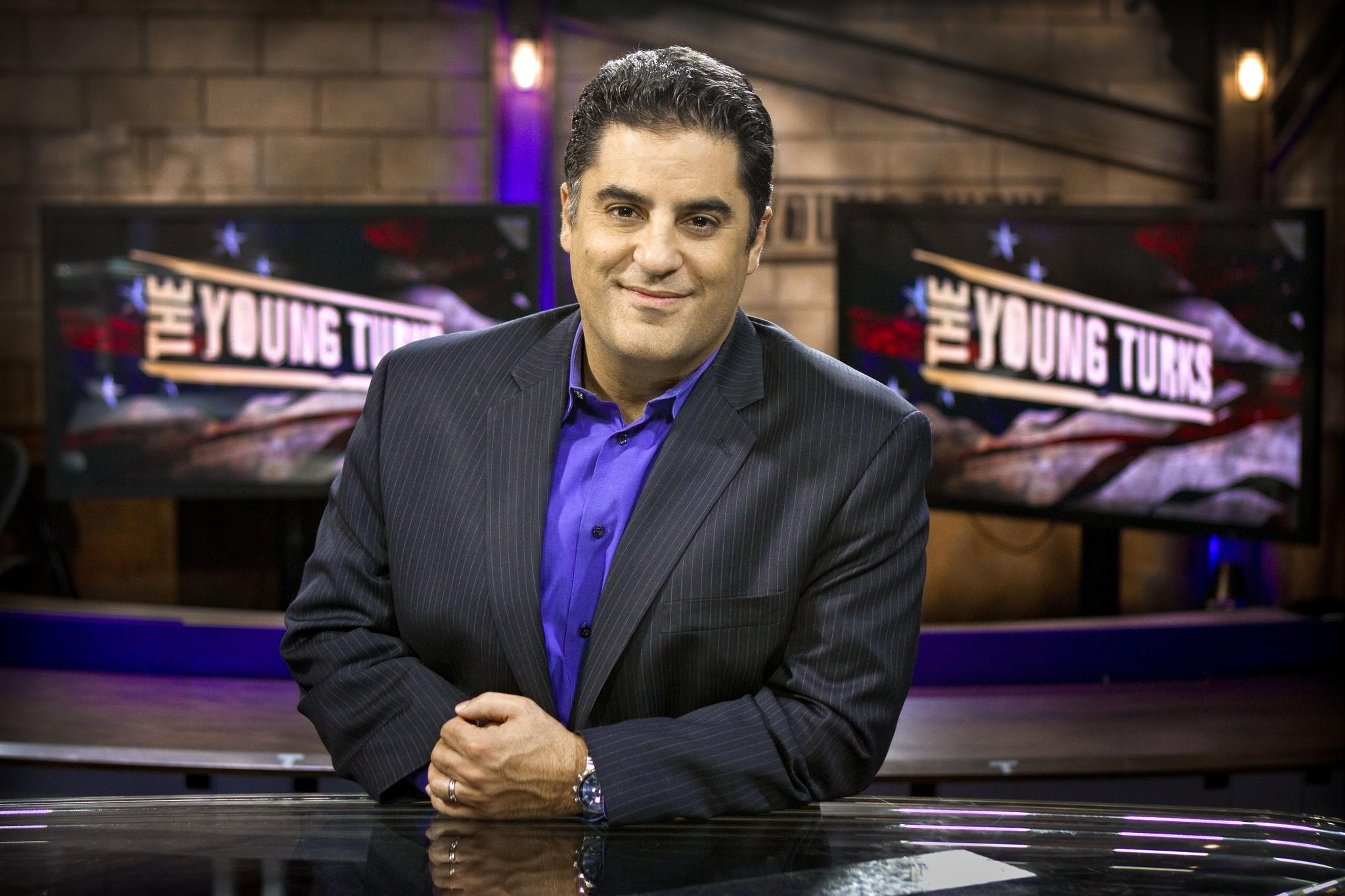 "Cenk Uygur, host of ""The Young Turks"" and head of the Young Turks Network."