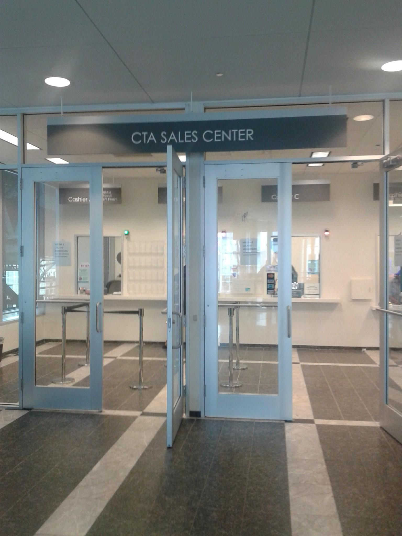 The CTA sales center is closing Friday.