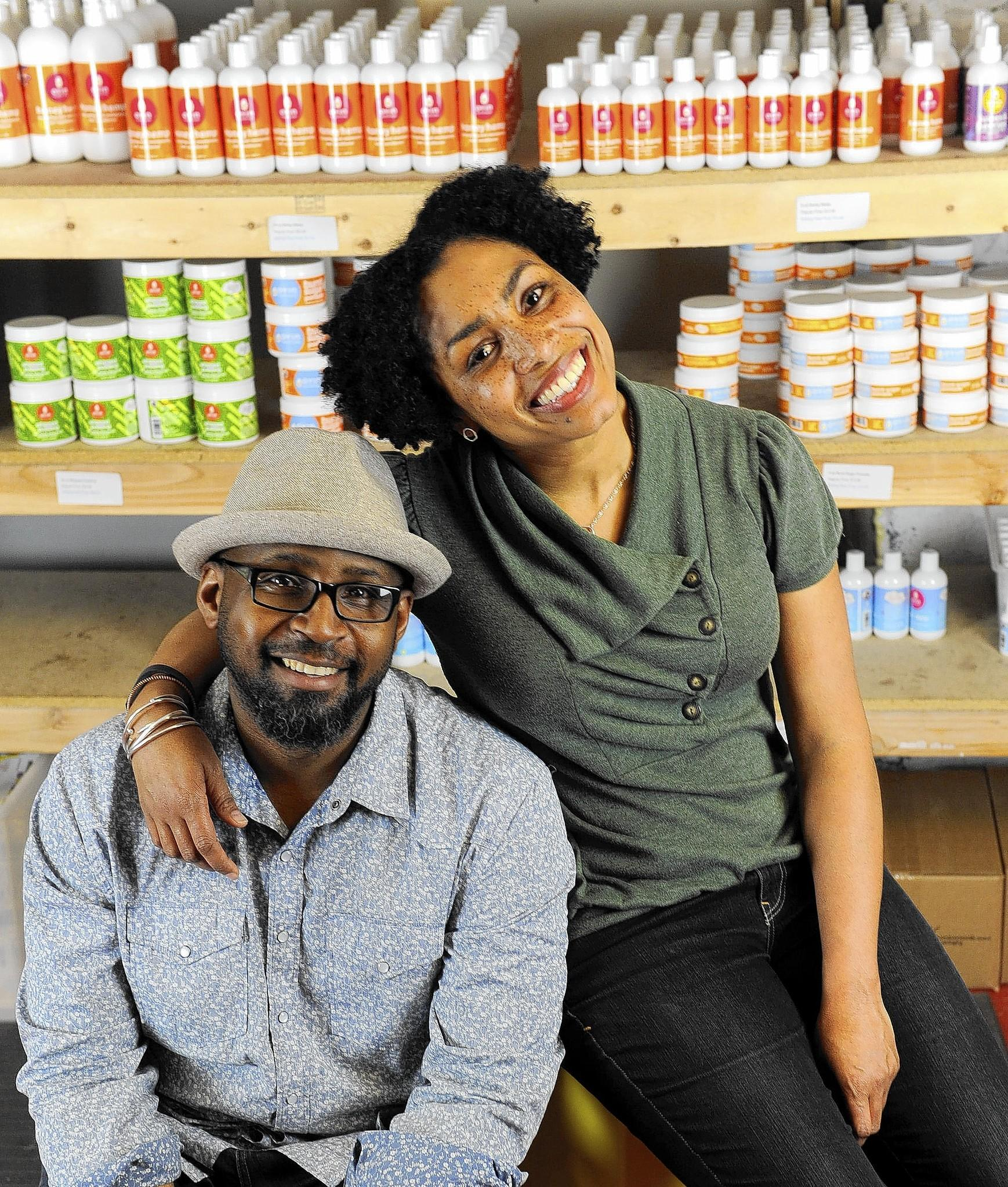 Jamyla, right, and her husband Pierre Bennu started a line of handmade skin and hair products called Oyin Handmade that are now being sold in Target stores.