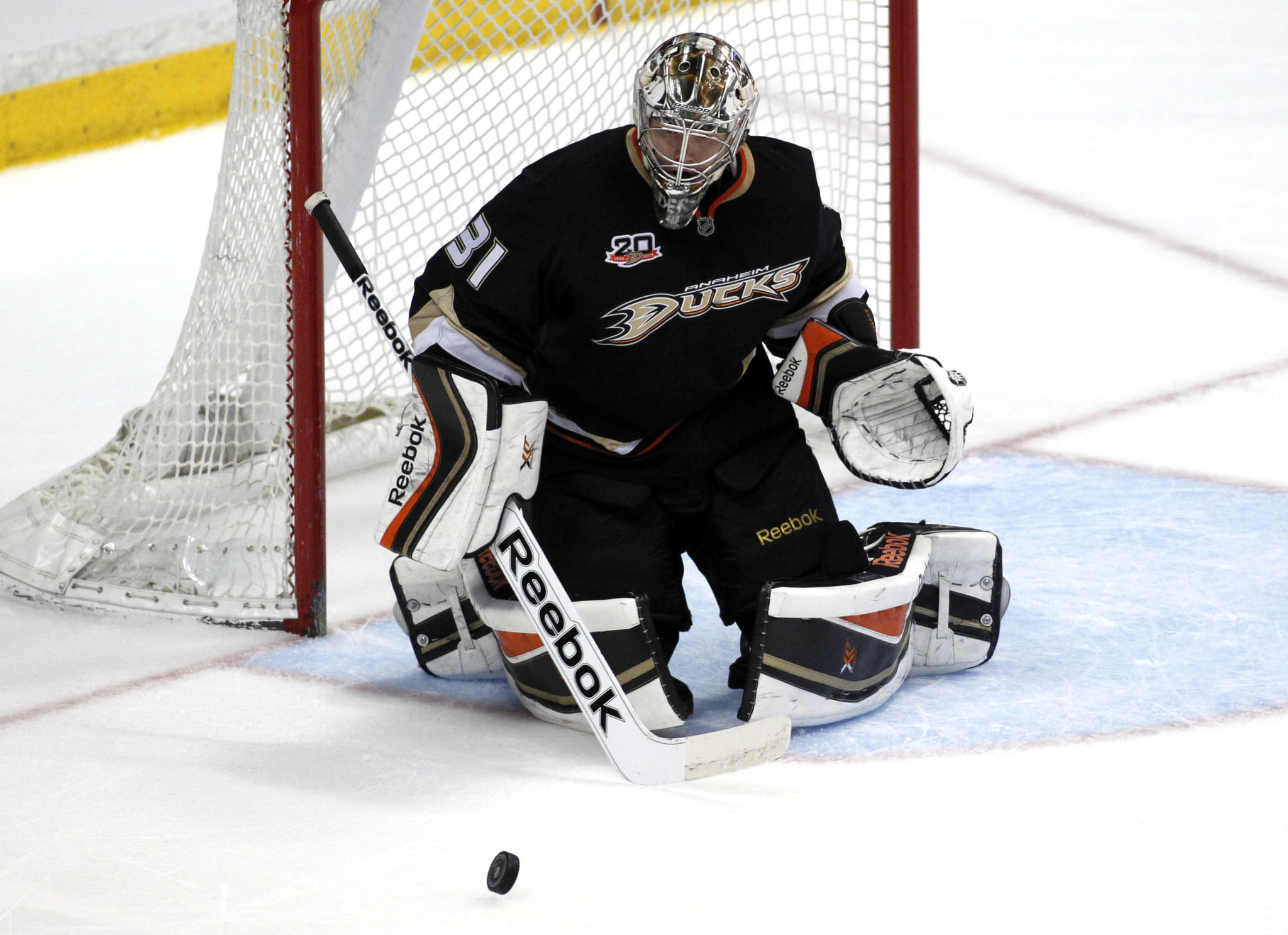 Frederik Andersen will start Game 1 of the playoffs for the Ducks.