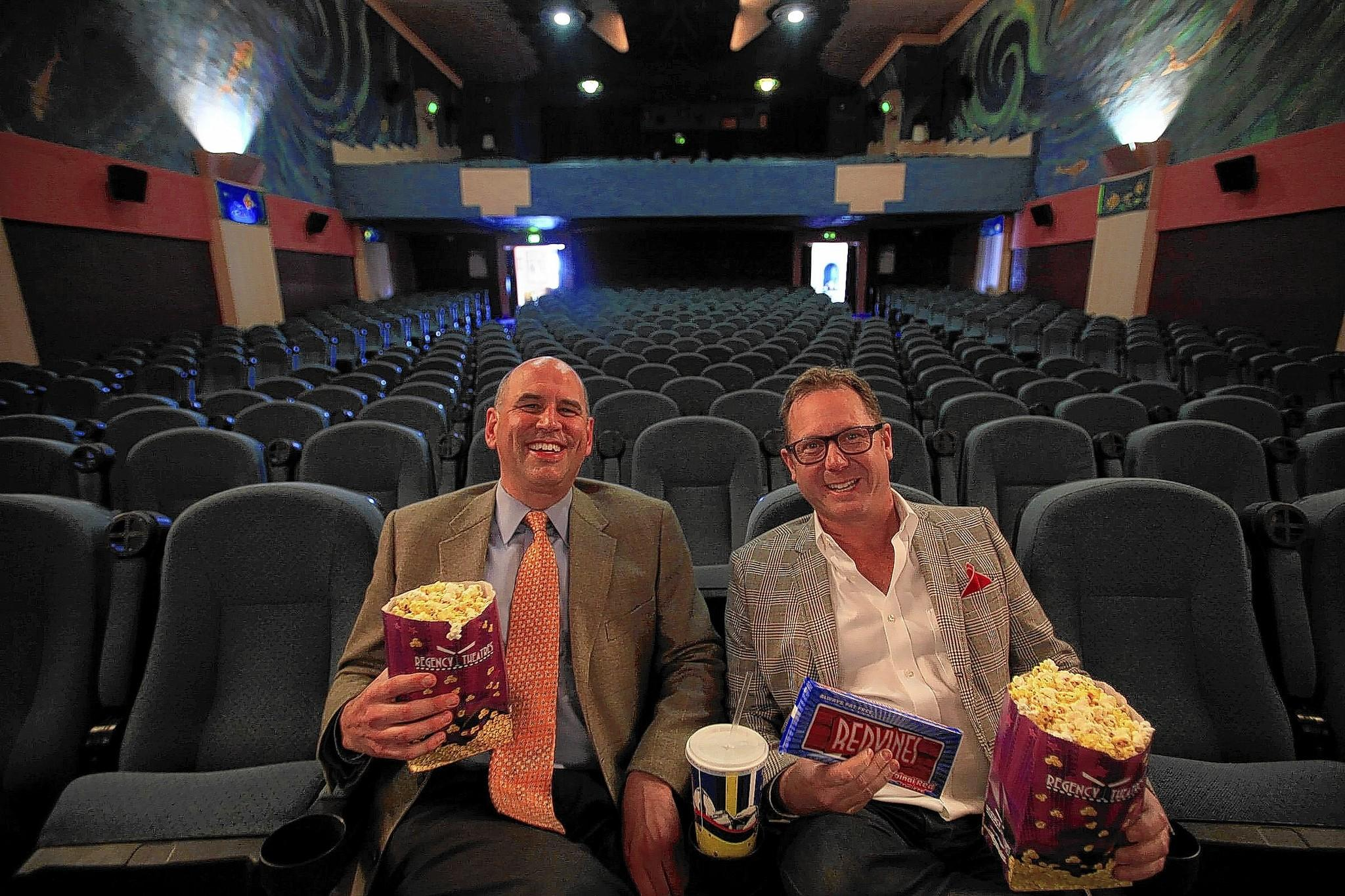 Gregg Schwenk, left, and Todd Quartararo, co-founders of the Newport Beach Film Festival.
