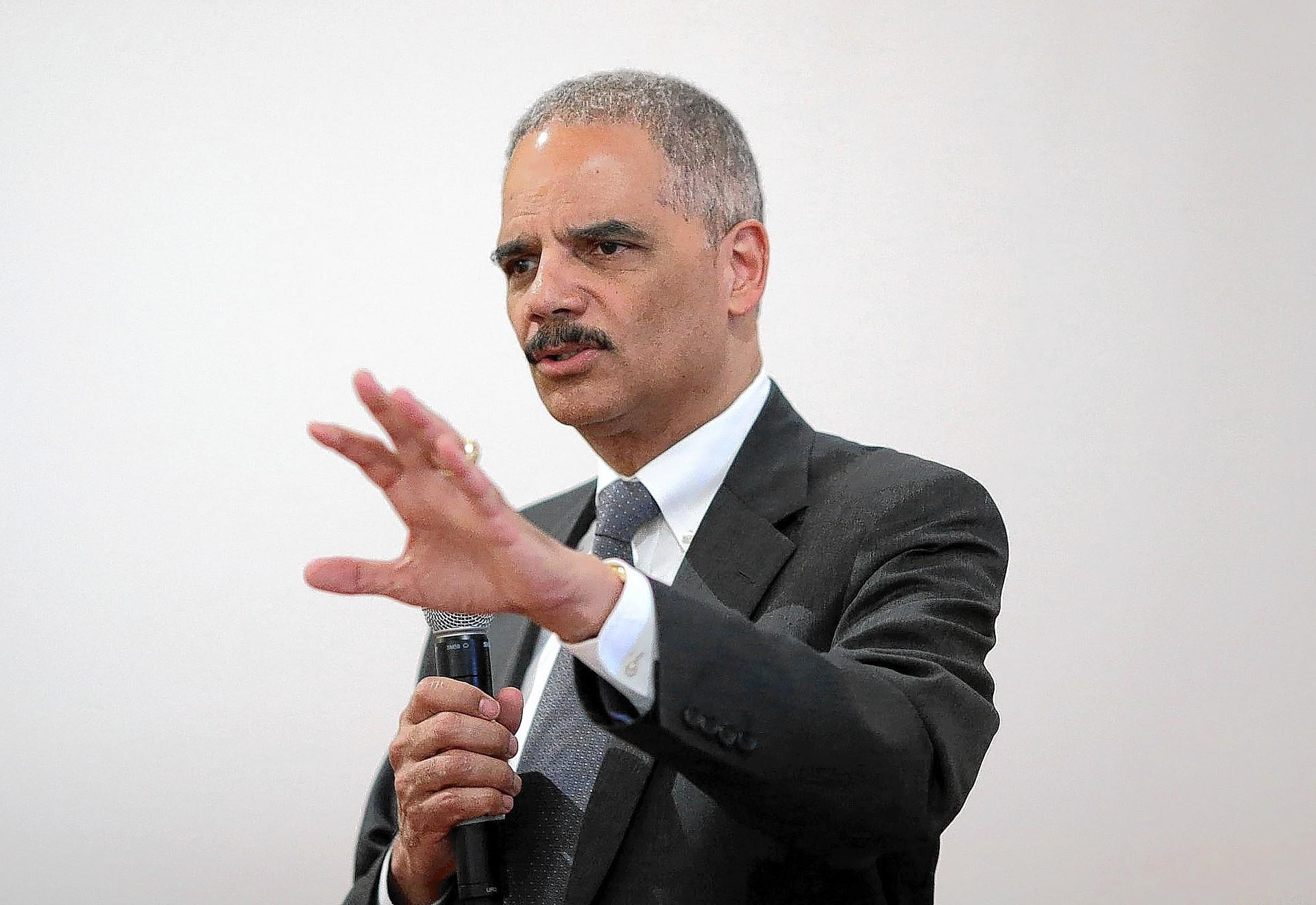 Atty. Gen. Eric H. Holder Jr. has been crusading for more lenient treatment for nonviolent drug offenders. In a speech Wednesday, he attempted to persuade critics that his department is working to fight heroin and prescription drug abuse.