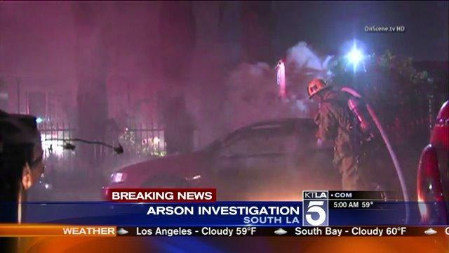LAFD Investigating 2 Fires Near South L.A.