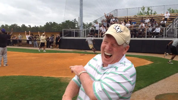 UCF football players, coaches face off in softball game