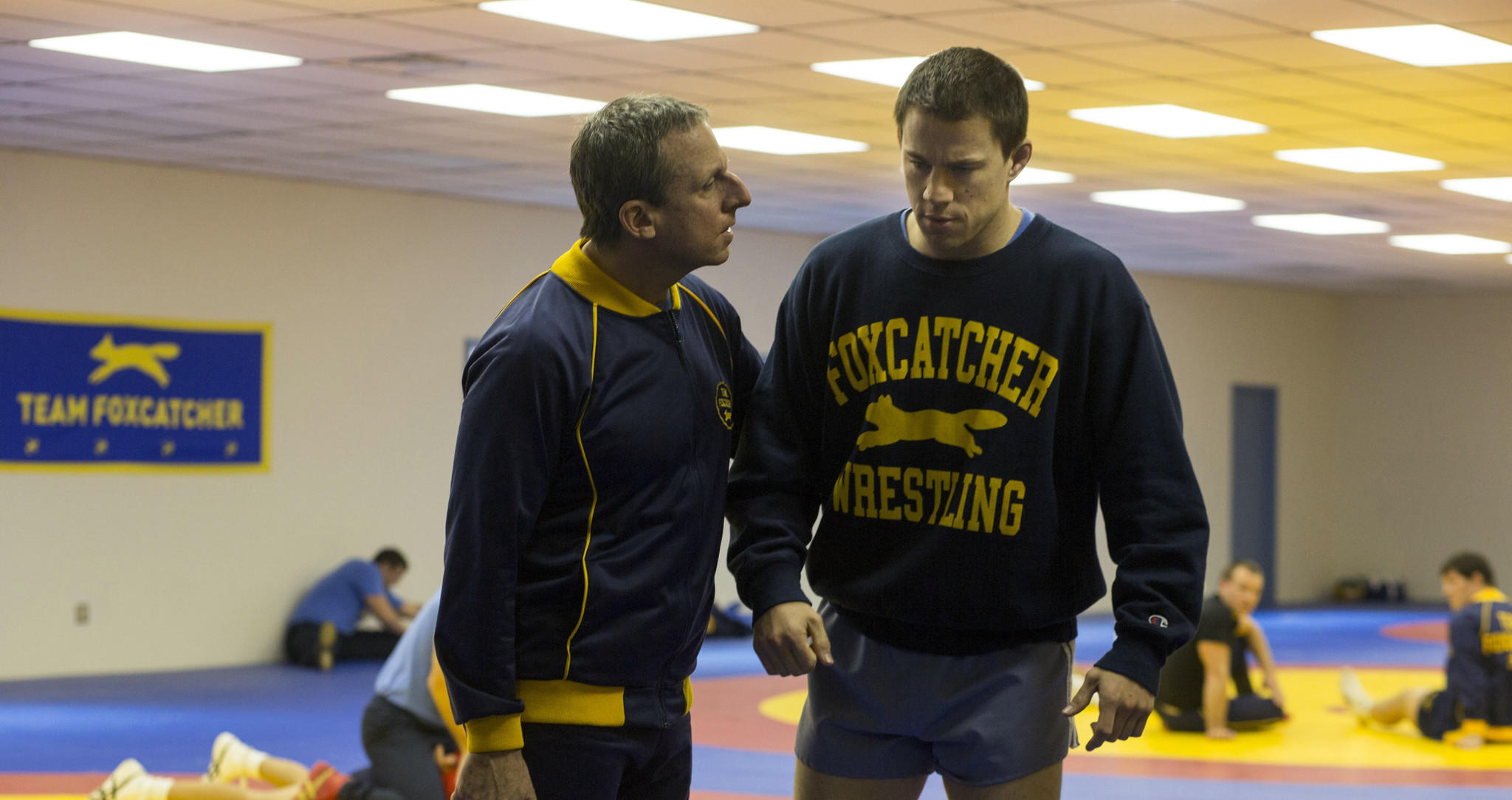 """Steve Carell and Channing Tatum in """"Foxcatcher."""""""