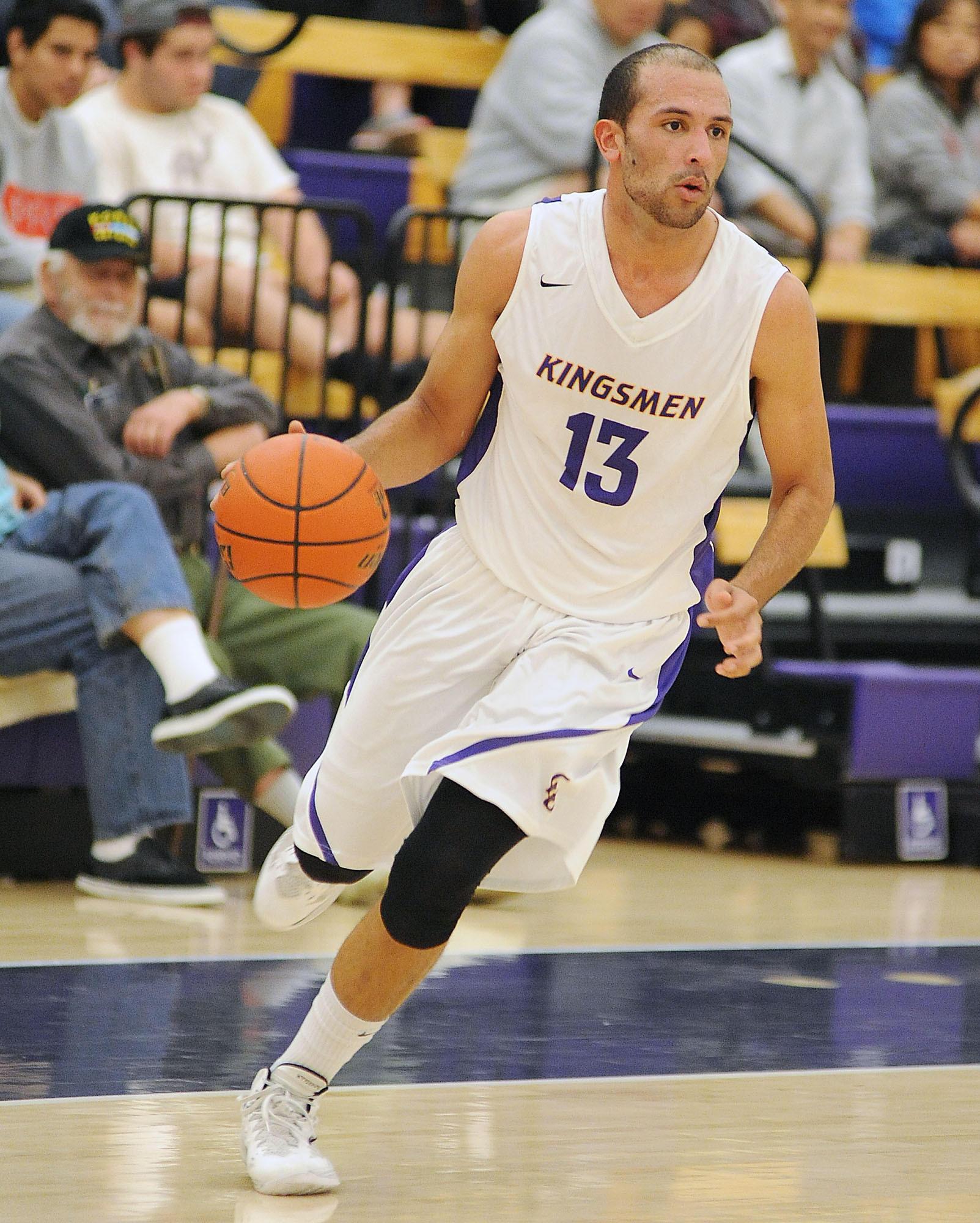Coltrane Powdrill of California Lutheran University men's basketball team.