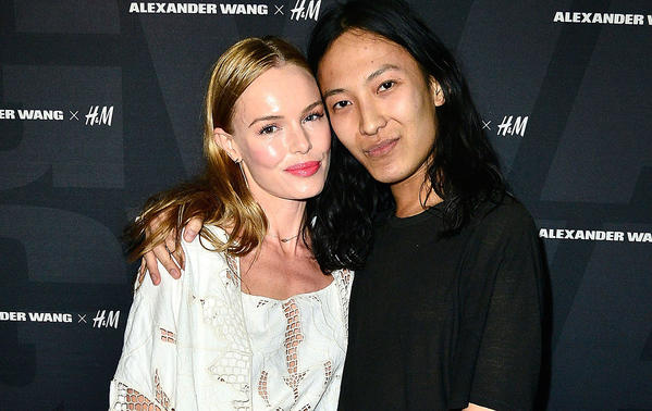 Actress Kate Bosworth and designer Alexander Wang arrive at the Alexander Wang X H&M Coachella Party.
