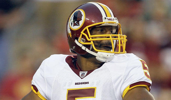 Donovan McNabb, shown with the Washington Redskins in 2010, may have gotten himself into trouble in Arizona early this year.
