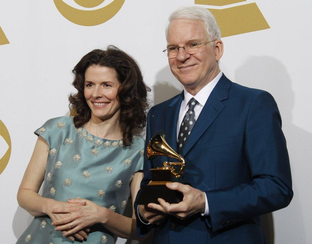 Edie Brickell and Steve Martin at the Grammy Awards in January.