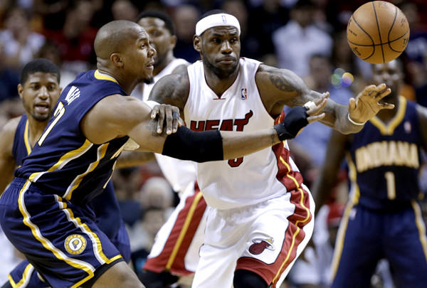 If LeBron James and the second-seeded Heat are to meet David West and the top-seeded Pacers in the Eastern Conference finals as expected, both teams will have to play more consistently in the playoffs than they did at the end of the regular season.
