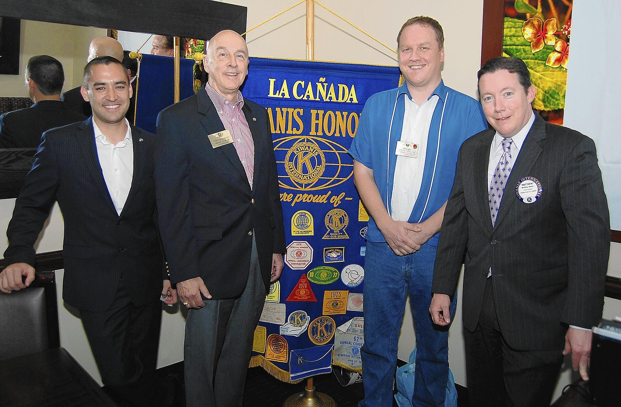 Kiwanis Club organizers of the new local branch of the Noon Club include Kyle Hara, from left, club President Tom Passanisi, Brian Fuller and Matt Regan.