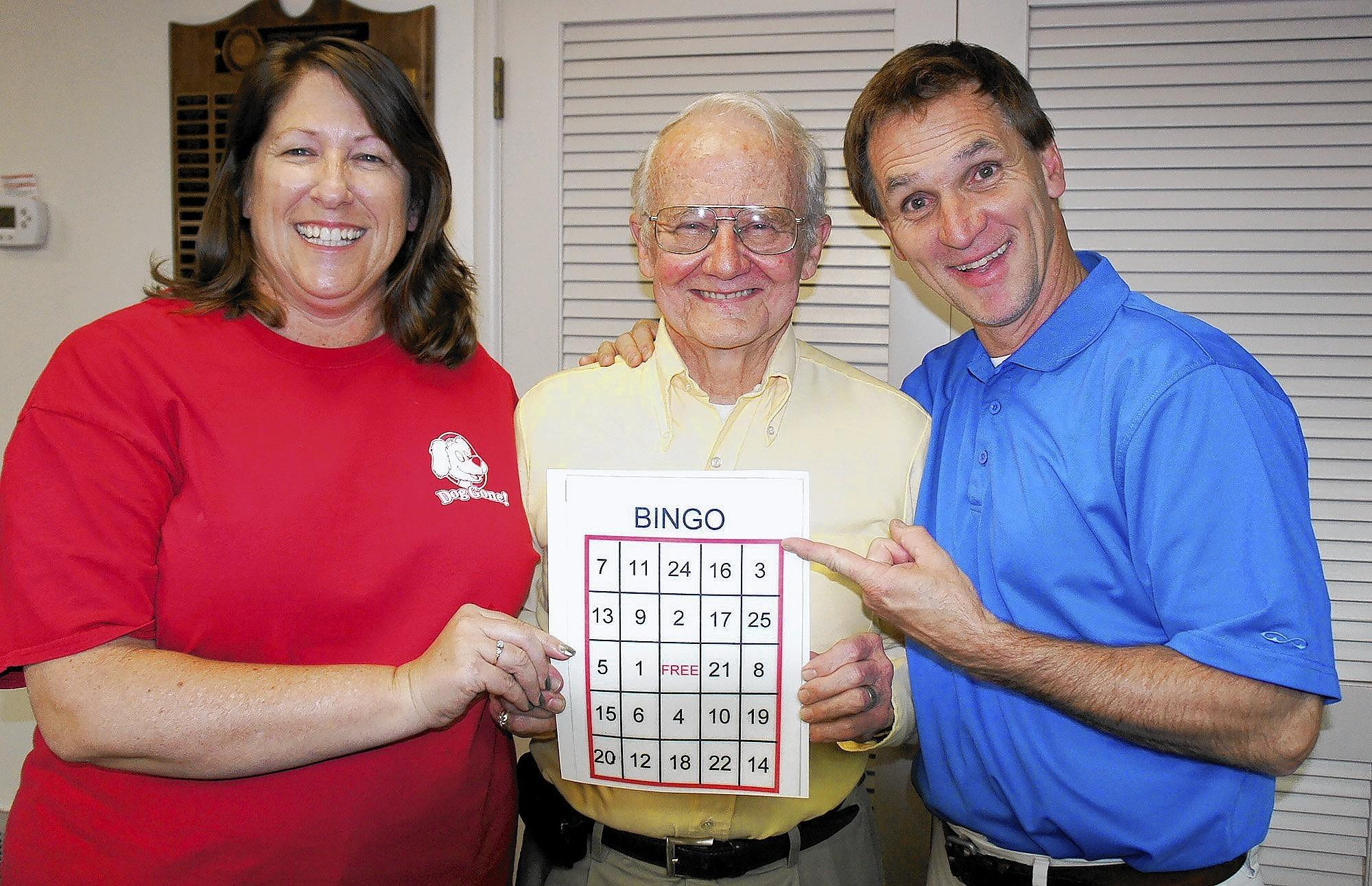 Dana Hardin, from left, Bill Pounders and Tyler Wright invite community members to the Saturday, April 26 Bingo BBQ in support of the La Cañada Flintridge Tournament of Roses Assn. The event will be held at the Thursday Club. For tickets visit lcftra.org.