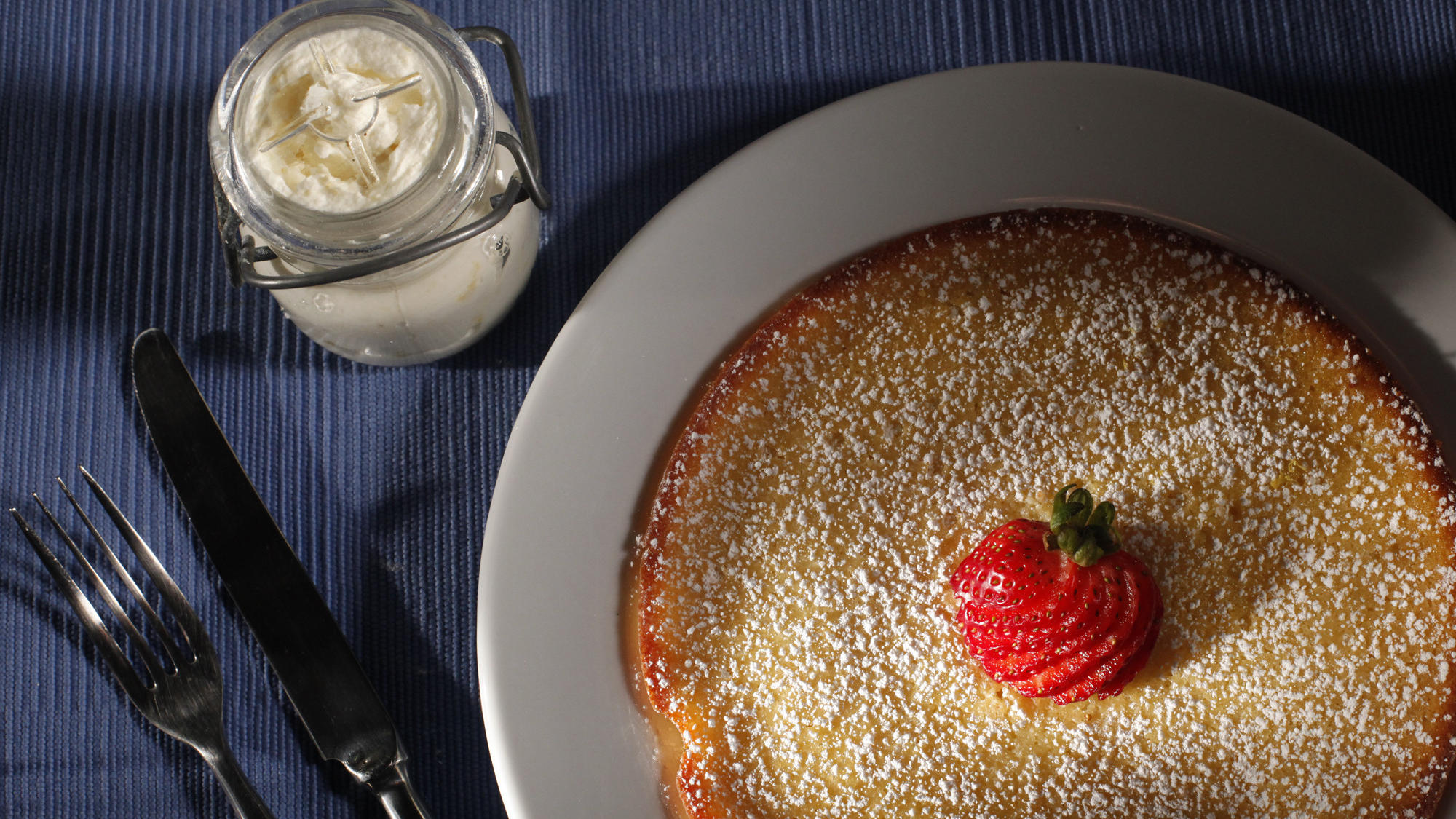 Icebox Cafe's lemon ricotta pancakes