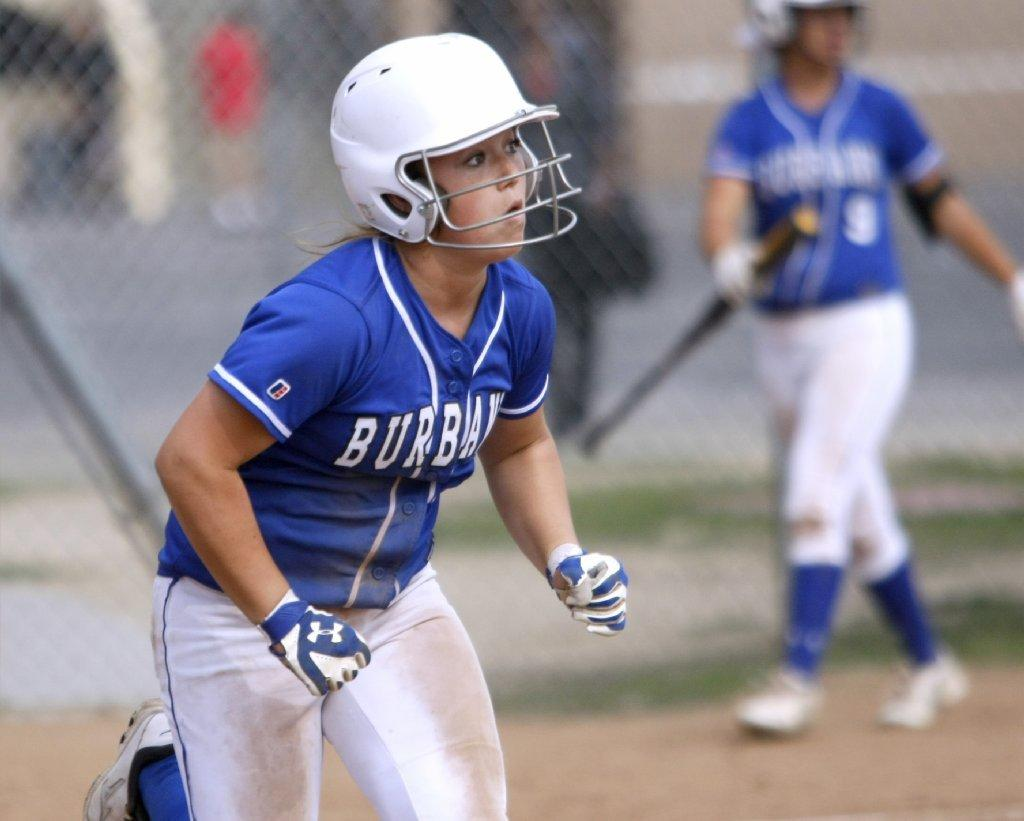 Burbank High's Lily Winn was four for four with two triples and a double in the Bulldogs' 13-1 five-inning victory over Glendale on Thursday. (Raul Roa/Staff Photographer)