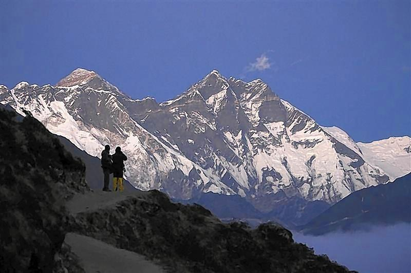 Mount Everest, the world's highest peak.