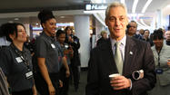 Emanuel rings up frequent flier tab
