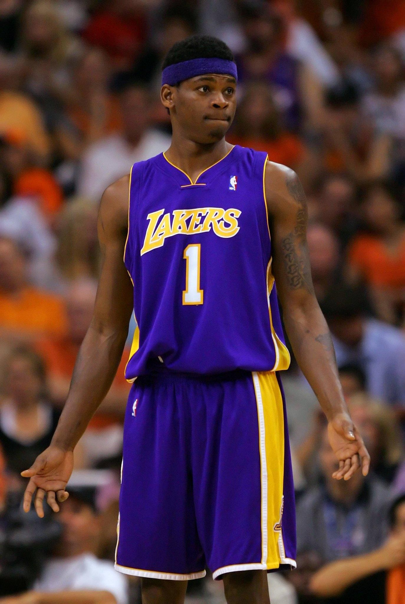 Former Laker Smush Parker plays against the Phoenix Suns in Game 5 of the Western Conference guarterfinals on May 2, 2007.