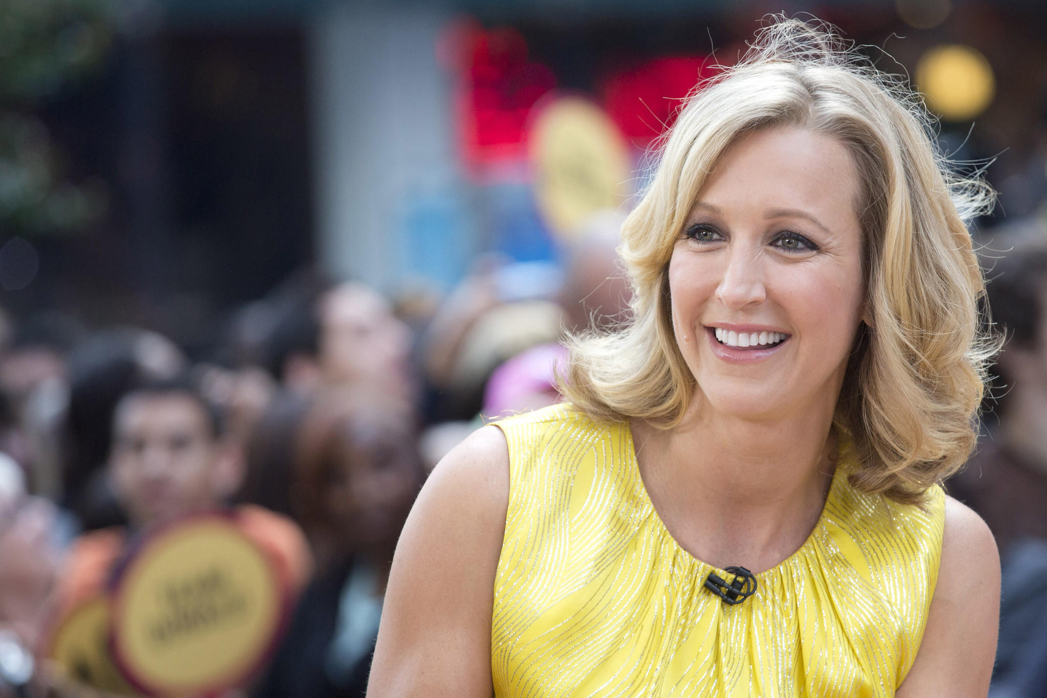 "This May 23, 2012 file photo shows Laura Spencer on ABC's ""Good Morning America"" show, in New York. ABC says it has promoted Lara Spencer to co-host status on ""Good Morning America."""