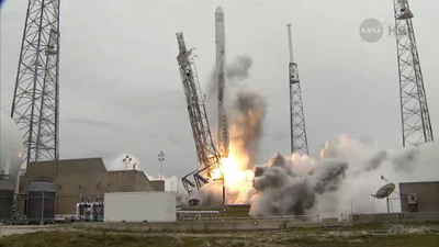 SpaceX cargo mission blasts off to ISS at last, defying latest hurdle