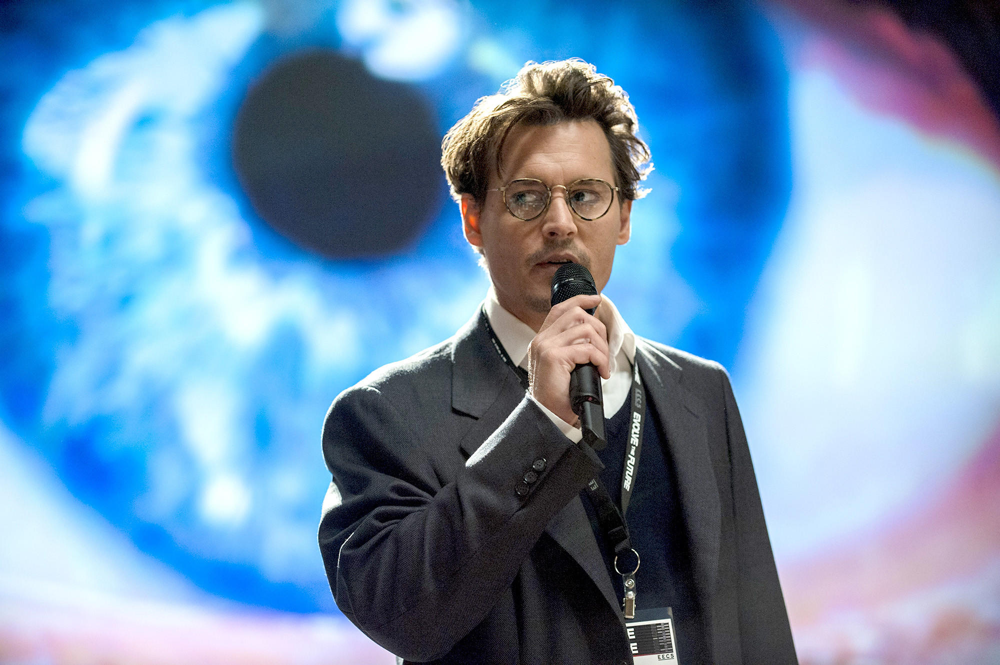 "Johnny Depp as Will Caster in Alcon Entertainment's sci-fi thriller ""Transcendence,"" a Warner Bros. Pictures release."