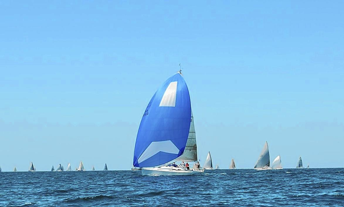 Linstar in last year's Newport to Ensenada International Yacht Race.
