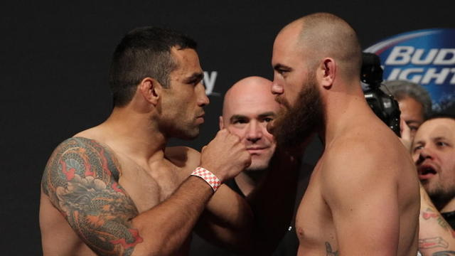 UFC heavyweight weigh-in Fabricio Werdum vs. Travis Browne