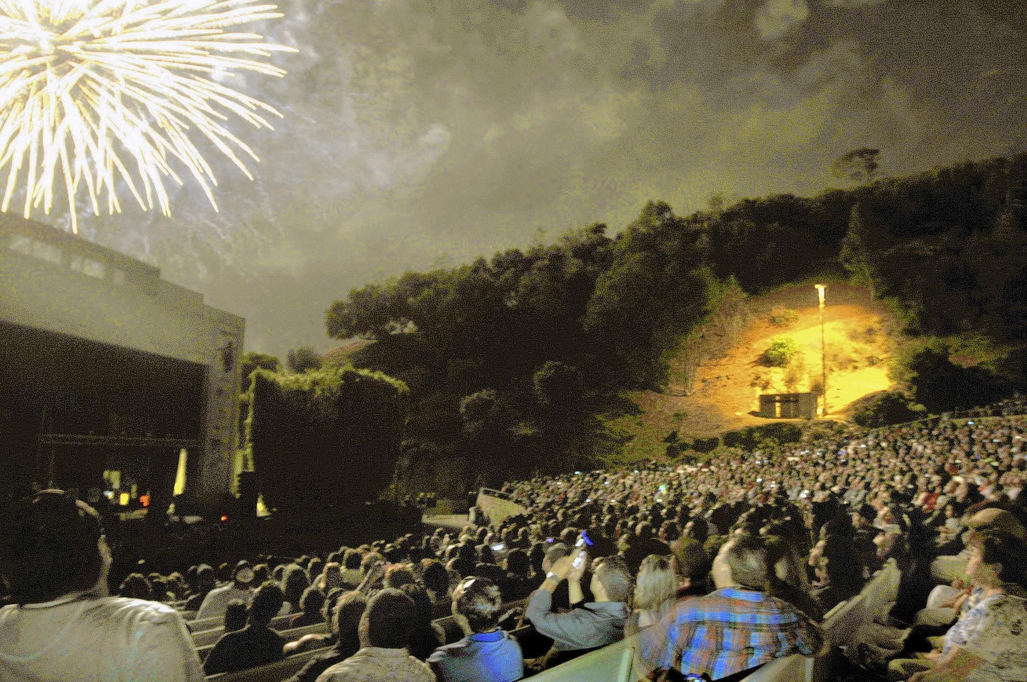 The annual Fourth of July concert and fireworks at Burbank's Starlight Bowl, photographed on Thursday, July 4, 2013.