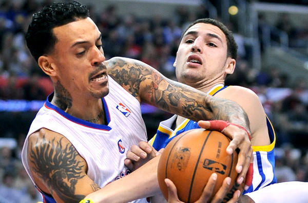 It's not a stretch to say that when push comes to shove, Clippers forward Matt Barnes, getting fouled by Warriors guard Klay Thompson on a drive to the basket, will be in the middle of the action.