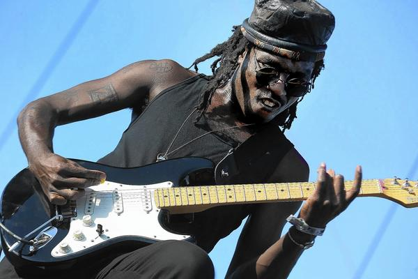 Blood Orange, fronted by Devonte Hynes plays at the Coachella festival.