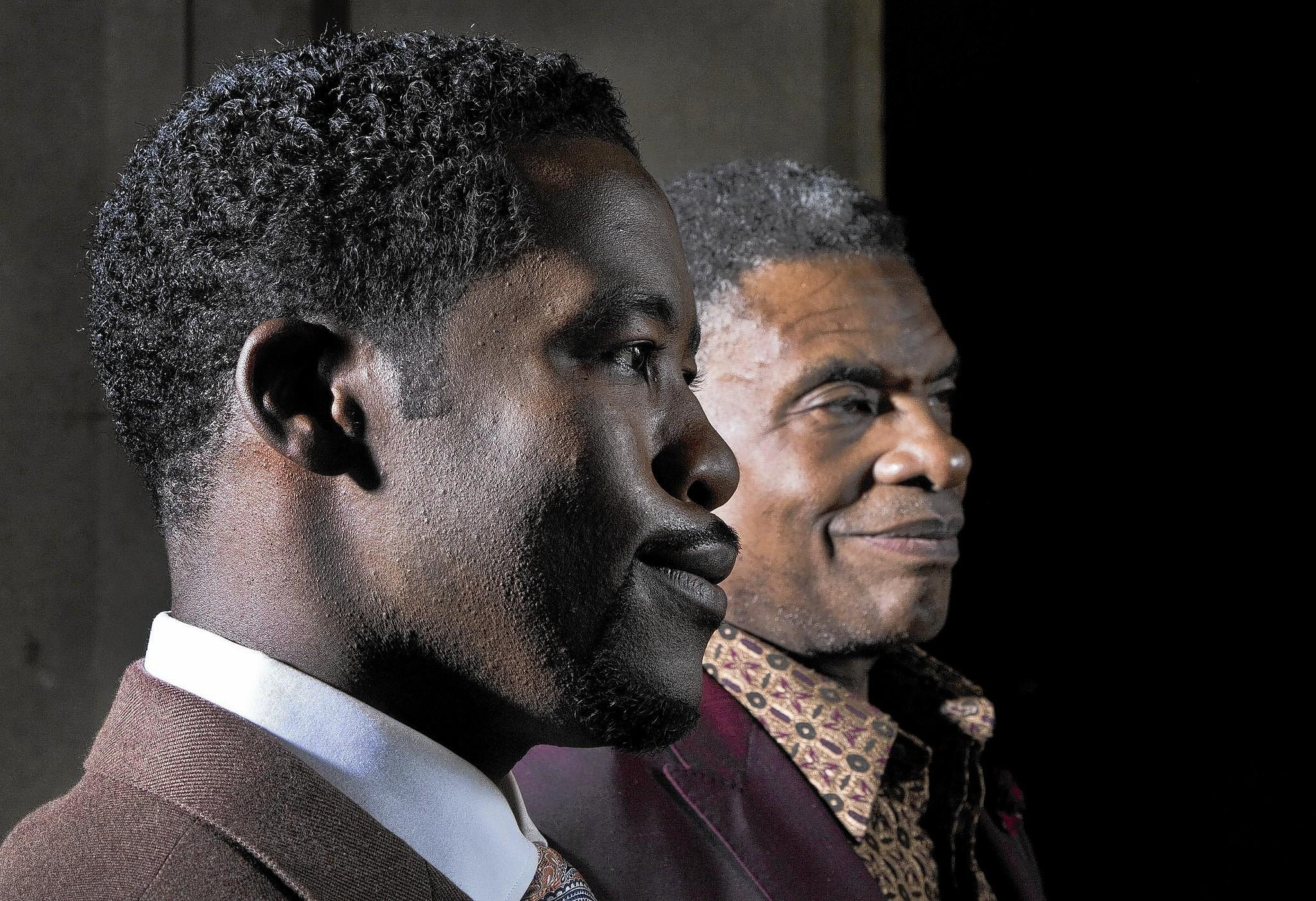 Actors Daniel Beaty, left, and Keith David are playing Paul Robeson in separate L.A. productions.
