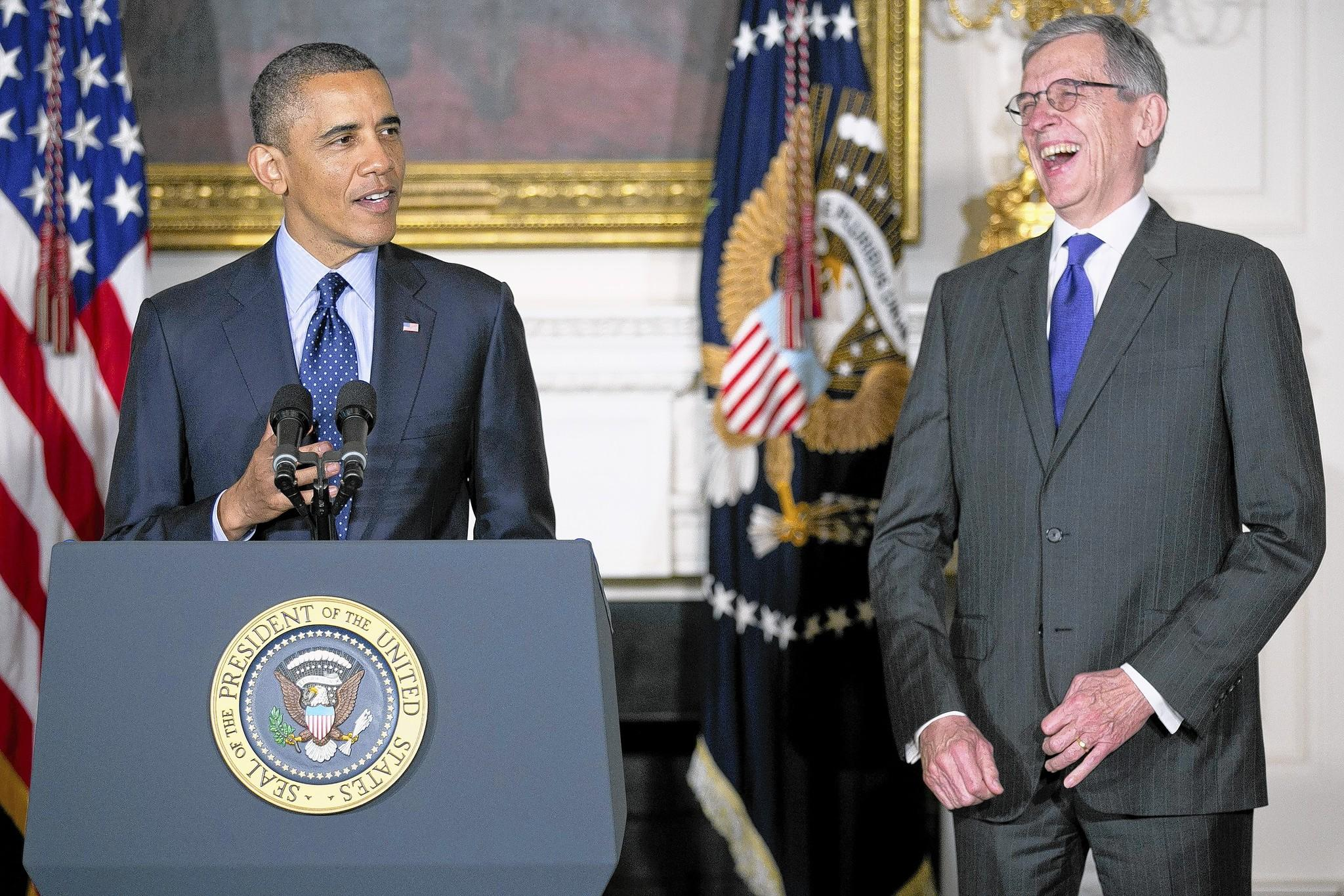 President Obama names Tom Wheeler as his nominee for FCC chairman in May 2013. A major fundraiser for Obama, Wheeler has extensive Washington experience.