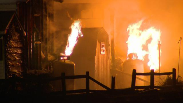 Tobacco Barn Fire Spreads To Mobile Home Park