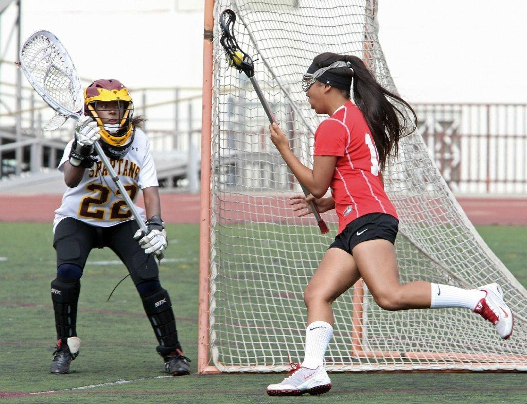 Glendale High girls' lacrosse defeated La Canada on Friday afternoon.