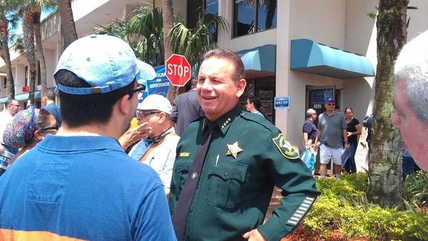 Broward Sheriff Scott Israel at the opening of Charlie Crist's campaign office in Plantation on April 19, 2014. Israel said he isn't endorsing either Crist or Nan Rich for the Democratic nomination.