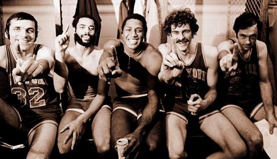 """A shot of the New York Knicks team from Michale Rapaport's """"When The Garden Was Eden."""""""