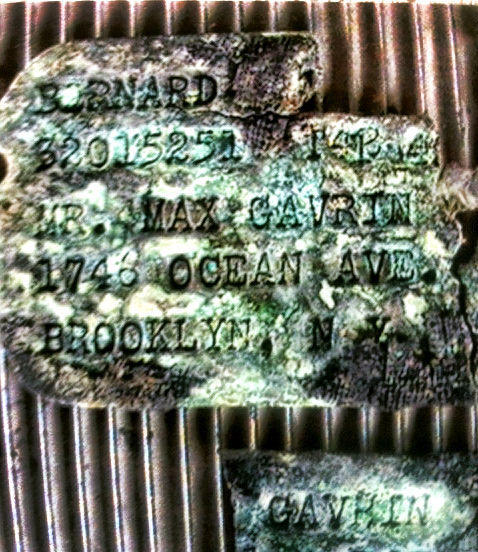 Bernard Gavrin's dog tags were found in Saipan last year. Photo provided by David Rogers