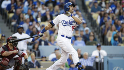 Dodgers' offense awakens with a huge roar
