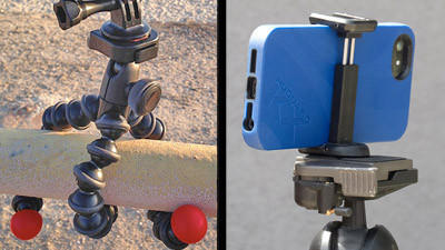 Photo gadgets: GorillaPod and GripTight Mount
