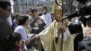 Video: Cardinal George attends Easter Service