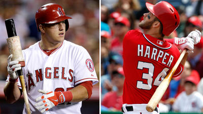 Angels' Mike Trout, Nationals' Bryce Harper to meet for first time