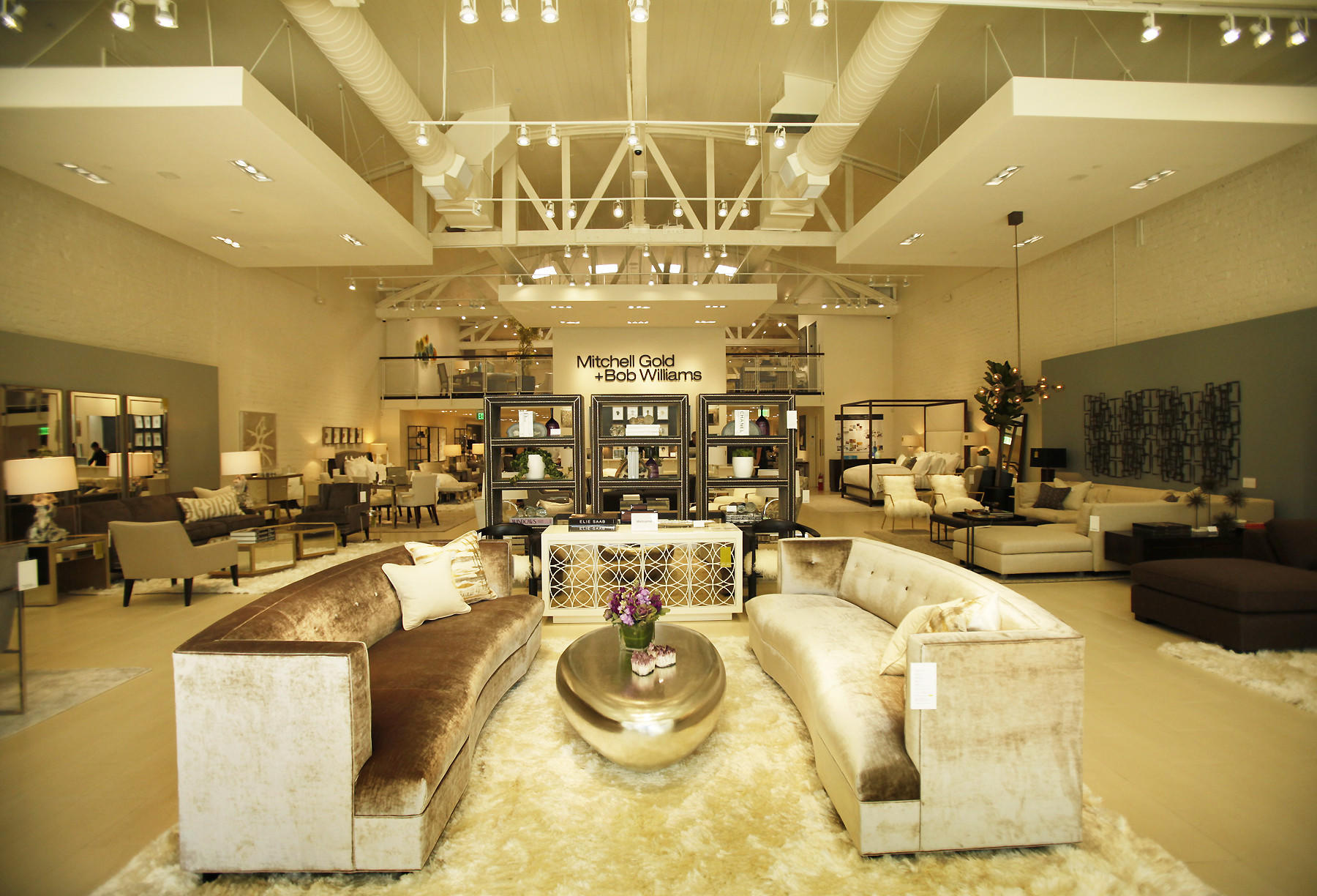 A portion of the new Mitchell Gold   Bob Williams showroom in Beverly Hills.