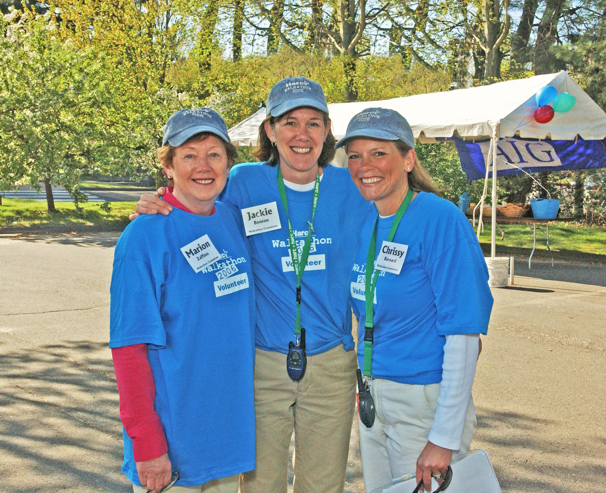Event Founders, Marion Zaffino, Jackie Benton and Chrissy Barnard at the 2006 HarcWalk.