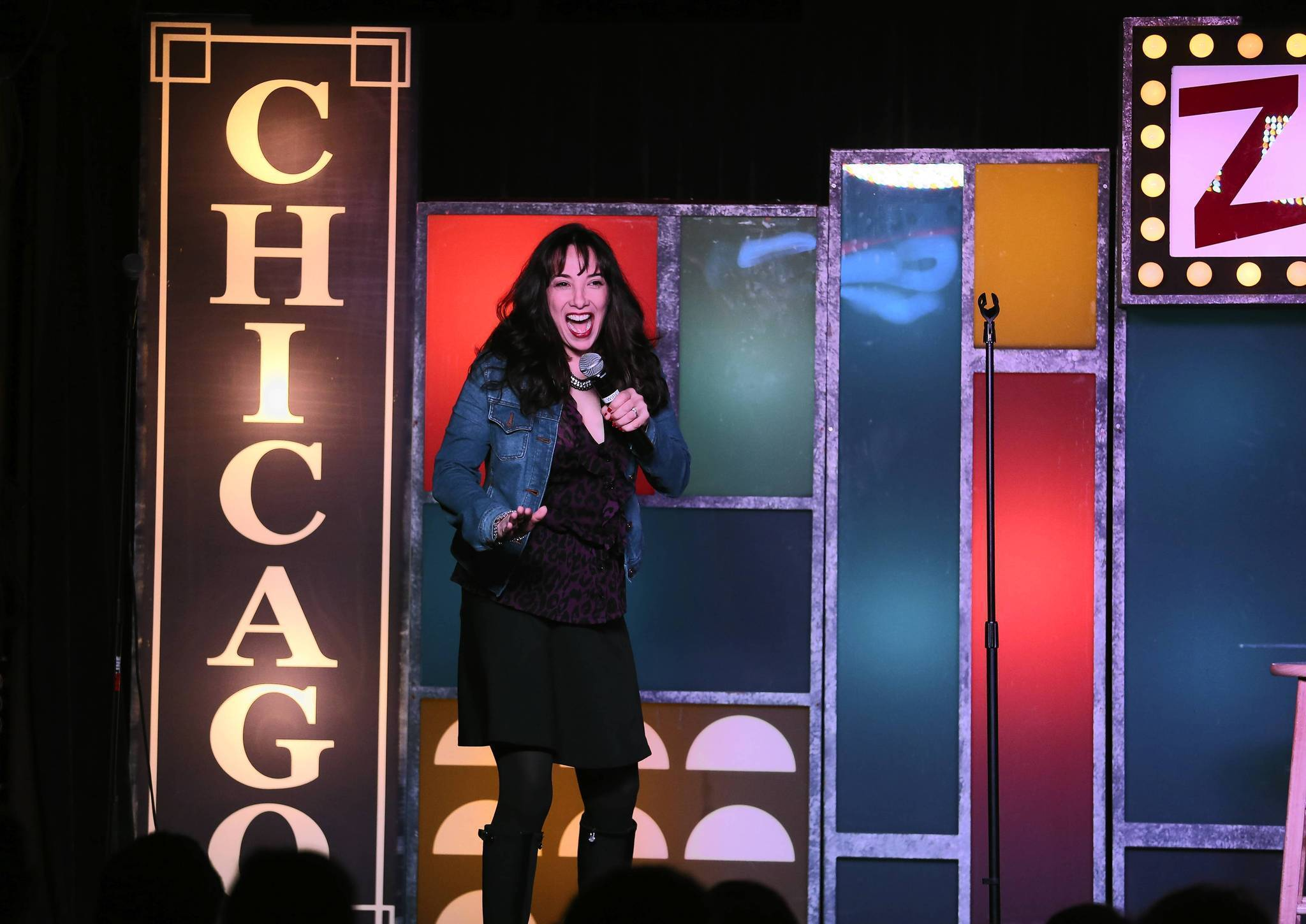 Chicago is the funniest city in America, according to a study by the University of Colorado at Boulder. Researchers at the university's Humor Research Lab created an algorithm to evaluate several data sets, including the number of comedy clubs in each city. Above is Patti Vasquez performing at Zanies Comedy Club on Wells Street.