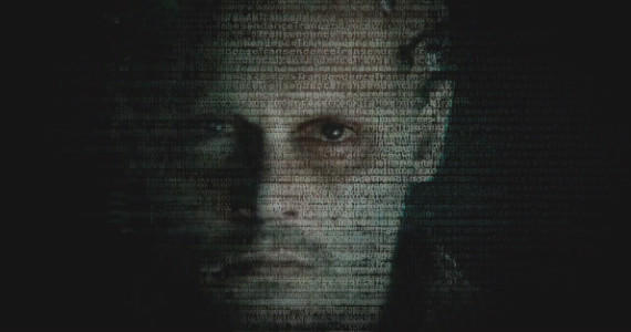 "Johnny Depp as a computer with possible consciousness in ""Transcendence."""